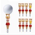 10pcs lot size 75mm 2 95 Sexy Girl cheerleaders design Golf Tees Plastic Golf Ball Nails