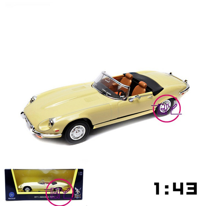 Packaged in Box 1/43 Scale 1971 Jaguar E-Type Diecast Car Models Collections Gifts Green and Yellow(China (Mainland))