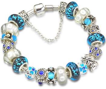valentine 39 s day gifts blue murano glass bead charm beaded. Black Bedroom Furniture Sets. Home Design Ideas