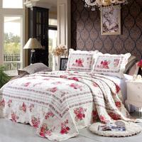 2015 hot sell 100%cotton bedspread flower design quilt