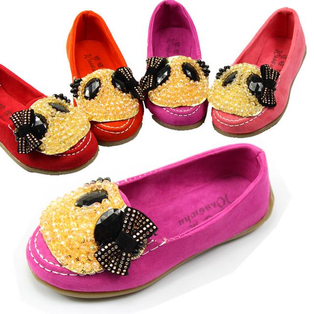free shipping 2013 fashion girl  flat casual shoe panda princess single shoes very light