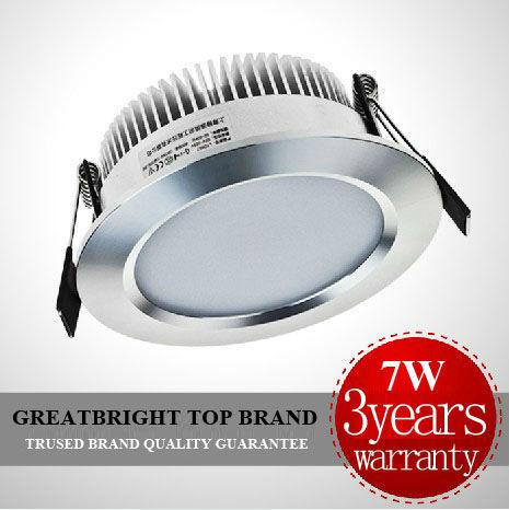 Factory price 4pcs/lot  LED 7W led recessed downlight lamp  dim and indim AC85-265V 110v 120v 220v 240v  5years warranty : TDA07