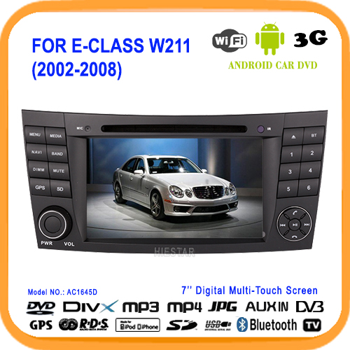 Car DVD Player Navi Radio BT 7'' Capacitive touch screen Google Play Android 5.1 3G Quad Band For Benz W211 CLS W219 W463(Hong Kong)