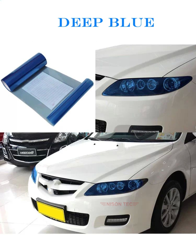 High Quality Light Film 12 Colors 30cm x 100cm Headlight Vinyls Tinting Car Lamp Film For Car Light fog light 12''x40''(China (Mainland))