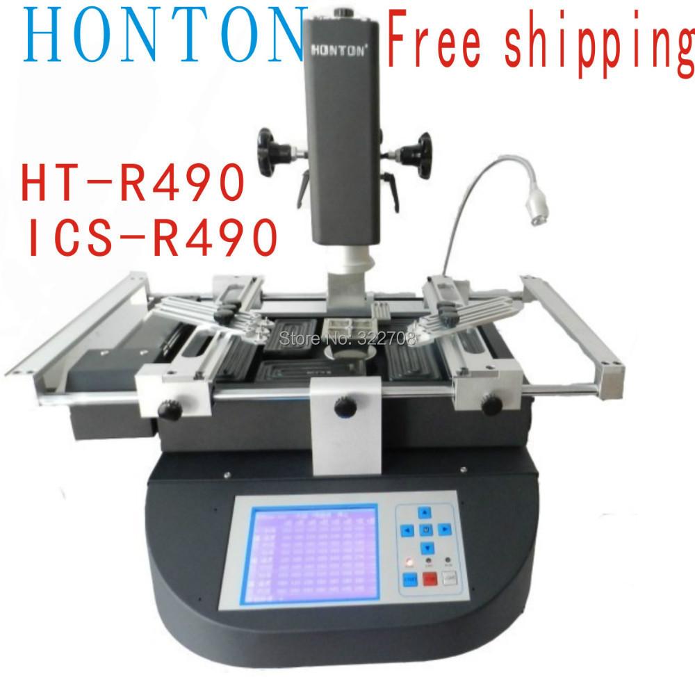 Free shipping! Honton HT-R490 bga reballing machine, bga rework machine, upgraded from R392 welding equipment 220v black(China (Mainland))