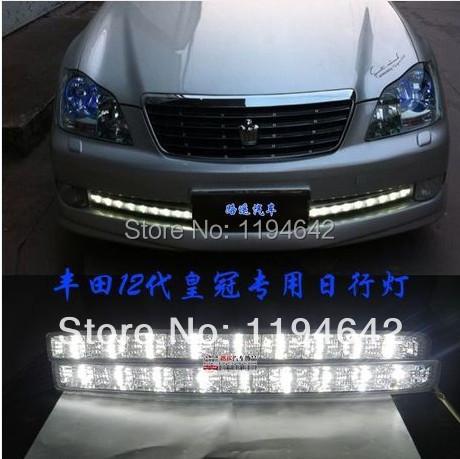 High quality! 2012 Toyota crown daytime running light Fog lights 2pcs/set ! DRL LED car fog lights,Germany OSRAM Chips<br><br>Aliexpress