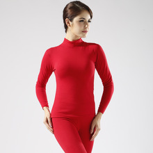 High quality women long johns woman winter thermal underwear set womens thick warm cashmere underwear sets 2XL red black purple(China (Mainland))