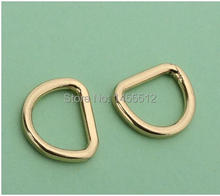 Line 2mm 3/8 inch inside diy bags' accessory alloy gold hardware d rings for fashion handbag accessories online shop(China (Mainland))