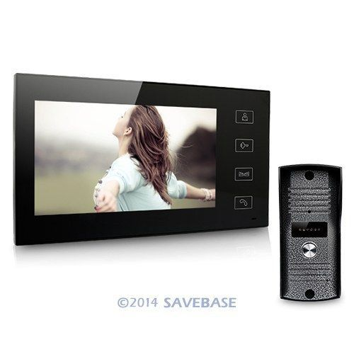 "HOMSECUR 7"" Color Video Door Phone Intercom 700TVL CMOS Waterproof IR Sensor Camera 1V1(China (Mainland))"