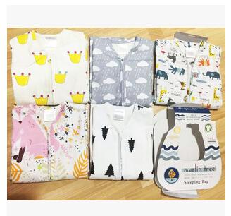 Бесплатная доставка весна и осень новорожденный 2 слоя мешки сна 100% хлопок 0 - ...