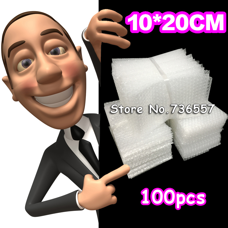 New 100x200 mm Bubble Envelopes Wrap Bags Pouches packaging PE Mailer Packing package Free Shipping(China (Mainland))