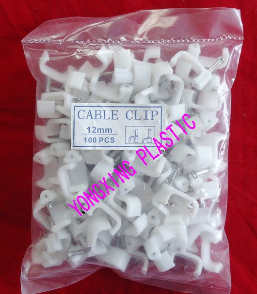 100pcs/bag 12mm flat nail clips cable clips cable tie nail cable<br><br>Aliexpress