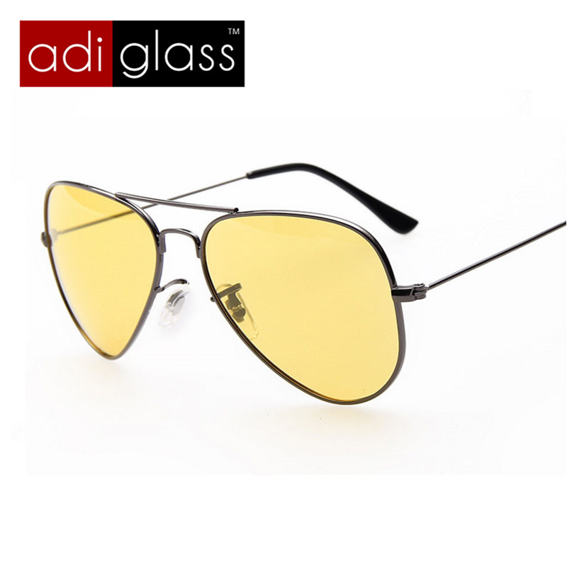 Adiglass Brand Polarized Glasses for Mens Outdoor Retro Metal Frame Sunglasses Night Vision Driving Eyewear 2016 New Arrival(China (Mainland))