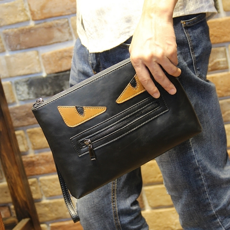 New Fashion Style Pu Leather Men Messenger Bags Business Men Clutch Bags Leather Handbags Casual Document Envelope Bags(China (Mainland))
