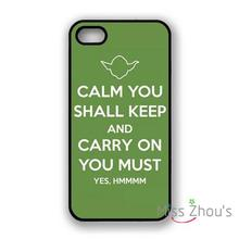 For iphone 4/4s 5/5s 5c SE 6/6s 7 plus ipod touch 4/5/6 back skins mobile cellphone cases cover Yoda Keep Calm