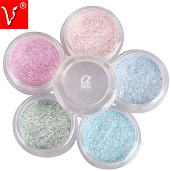 4pcs/Lot 13 Colors LOVE ALPHA Flash Powder Super Bright Pearl Shining Bright Glitter Powder Eye Shadow Pink Diamond Brand Makeup
