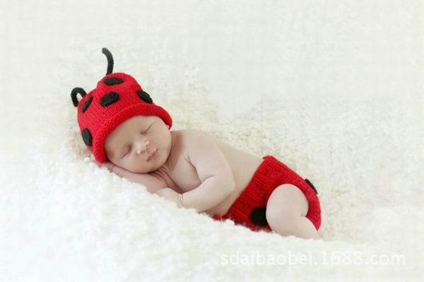 Beatles Set Hat + Pants Newborn Baby Handmade Beanies Cartoon Costume Knitted Crochet Photography Props Caps Hats(China (Mainland))