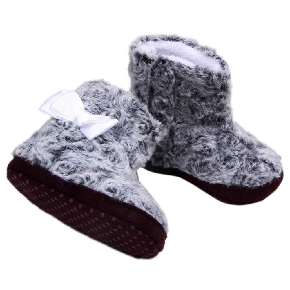 Best Price Toddler Baby Girls Fleece Crib Snow Boots Infant Crochet Bootee Warm Red Shoes(China (Mainland))