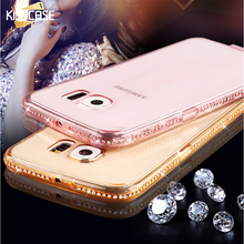 Buy KISSCASE Samsung Galaxy S5 S6 S6 Edge Luxury Diamond Soft Clear Case S5 I9600 S6 G9200 S6 Edge G9250 Bling Transparent Cover for $1.89 in AliExpress store