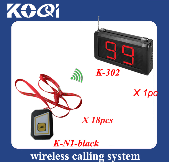 Colorful Wireless calling button system for hospital service equipment 1pc K-302 receiver with 18pcs mini buzzer(China (Mainland))