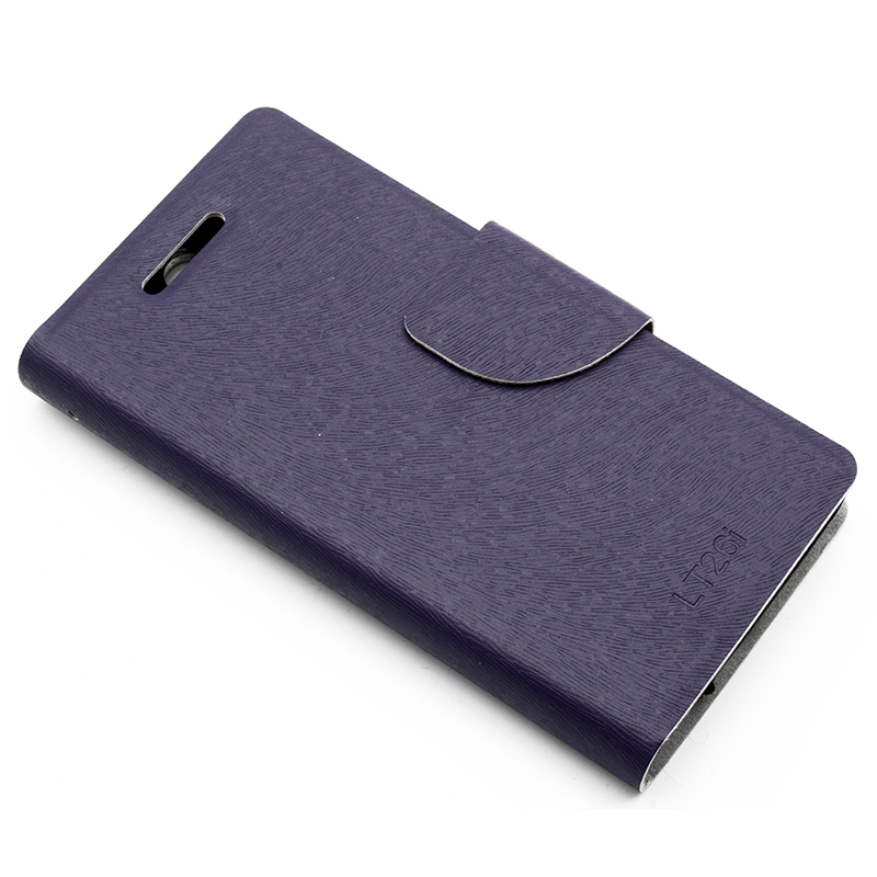Wallet Inside Flip Leather Mobile Phone Case For Sony Ericsson Xperia S SL LT26I Cell Phone Cover Shock Proof Bag Stand Function(China (Mainland))