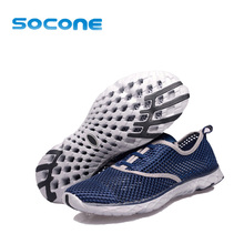 Socone Mens Women Breathable Light Running Shoes New 2016 Summer Mens Shoes Outdoor Water Shoe Athletic Sport Shoes Men Trainers