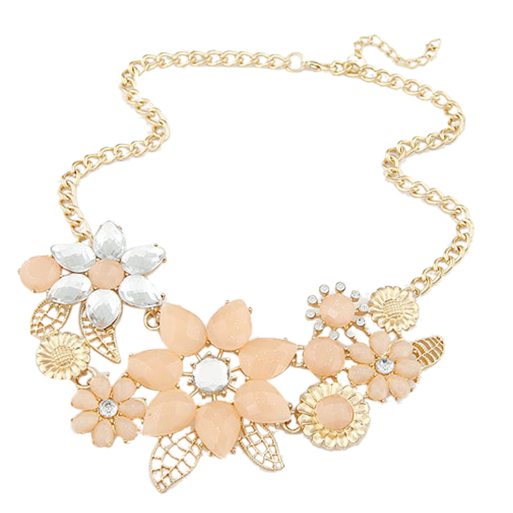 Euramerican Style Women's Tasted Simple Knitting Flower Pandent Elegant Necklace HB88(China (Mainland))