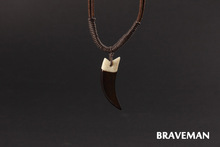 Braveman Punk Style High Quality Shark Tooth Necklace & Pendant Custom Long Chain Necklace Men Jewelry