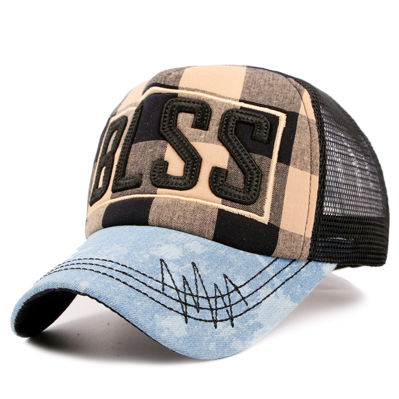 mesh male trucker men baseball cap sport snapback golf chapeau polo hat brim straight Bone Fashion summer Outdoor NET hat Caps(China (Mainland))