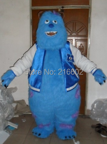 Monsters University Sulley Mascot Head Costume school mascots cartoon character costumes party - mascot trade factory store