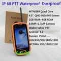 original S09 Android 4 2 PTT Walkie talkie MTK6589 Quad Core IP68 rugged Waterproof phone Smartphone
