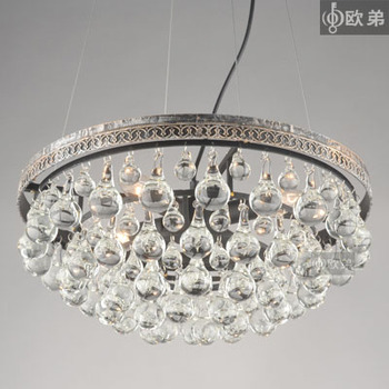 American style antique crystal large pendant light tieyi vintage restaurant lights bedroom lamps