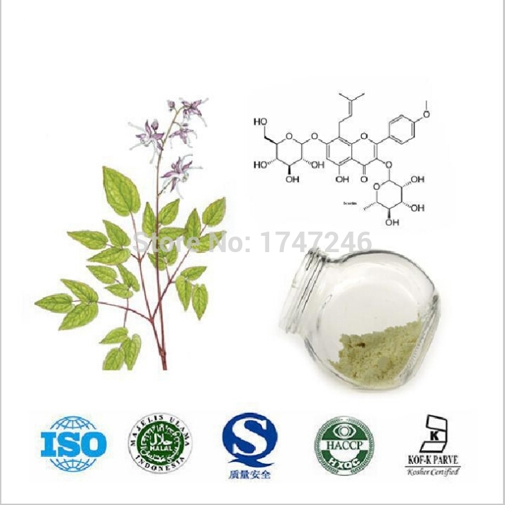 20g Pure Horny Goat Weed/Epimedium Extract Powder, 98% Icariin, Male Health Man Sex Pproducts(China (Mainland))