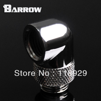 """Bright silver G1/4 """"transfer rotate 90 degrees rotation Angle"""