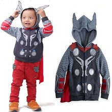 Real picture The Avengers 3-10yrs Boy's Jacket&Coat,Children Thor Cosplay Jacket,New improve cap Spring Long Sleeve hoodies(China (Mainland))