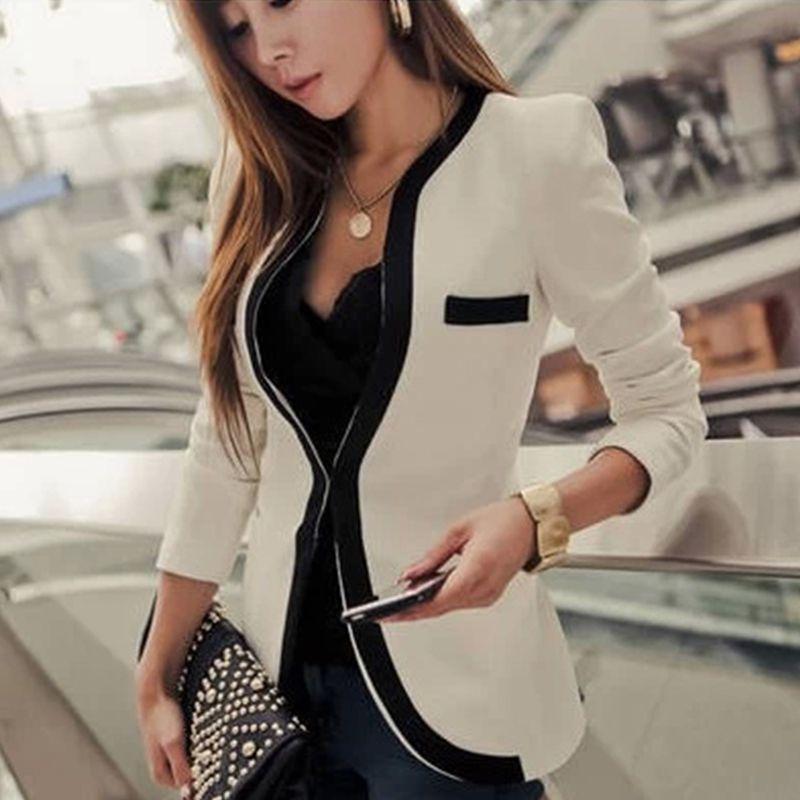 Hot Fashion Autumn/Spring Casual Jacket Women Slim Wave V-Neck Single Button Outerwear Suit Ladies Coat JL*YYE1445*60(China (Mainland))