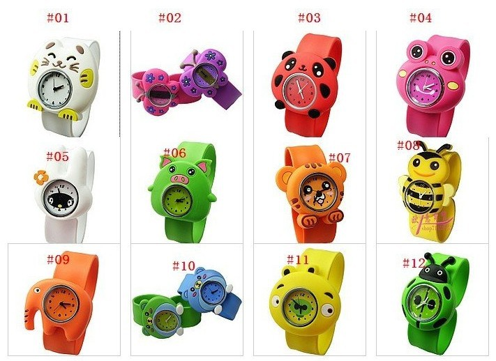 100pcs free shipping cartoon watch cartoon slap watches kids watch 3d cartoon watch children watch