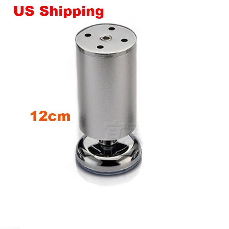 US Shipping 2pcs 12cm Aluminum wardrobe leg cabinet leg sofa leg with silicon base Furniture Caster(China (Mainland))