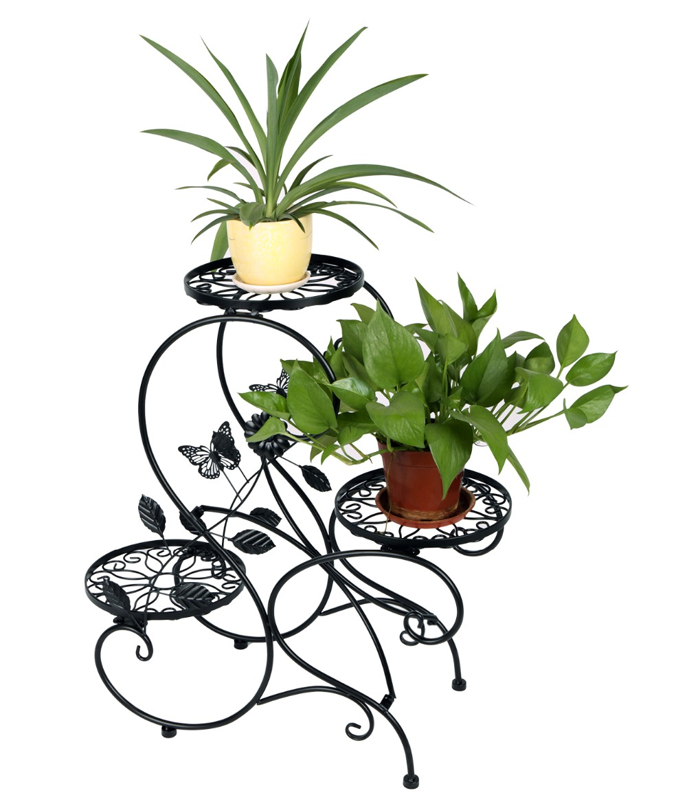"""HLC 3-tier Classic Plant Stand with Modern """"S"""" Design(China (Mainland))"""