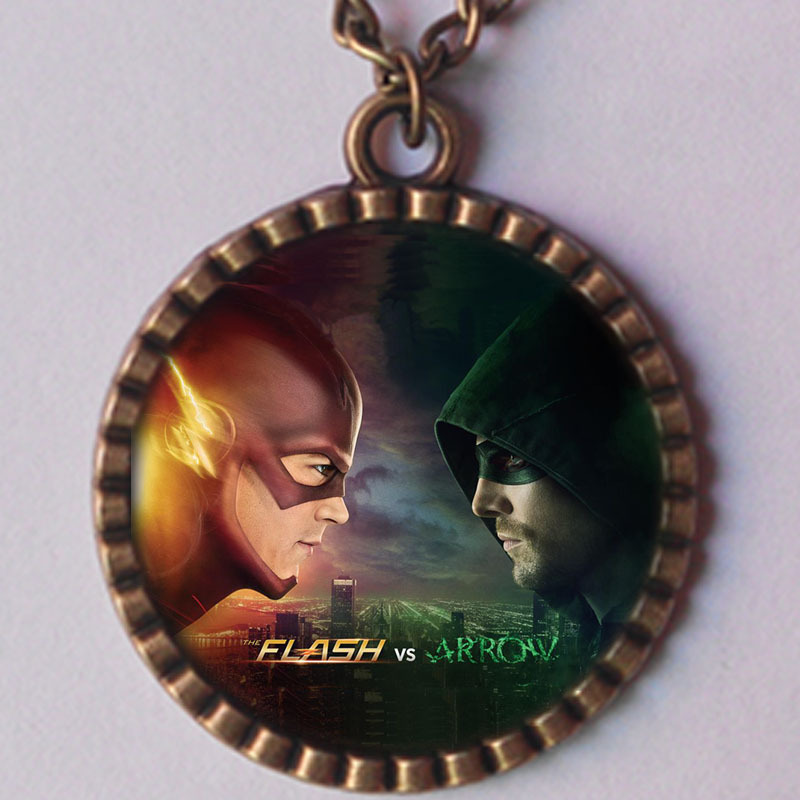 the arrow and flash necklace justice league superman