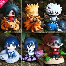 Naruto 6 pcs cute figure toy doll set Cartoon & Anime Sasuke Kakashi Orochimaru Uchiha Madara