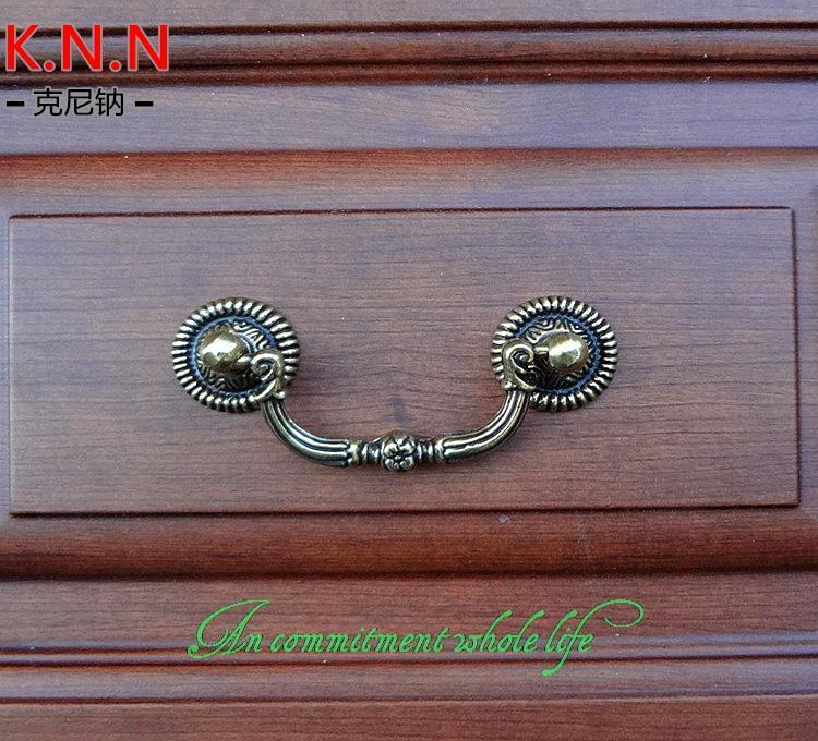Antique bronze rings solid handle European classical furniture handle cabinet door drawer handles American Pastoral(China (Mainland))