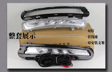 Free shipping, Relay Waterproof Led CAR Light DRL Daytime running lights fog lamp E8 mark Ford Mondeo 2011 2012