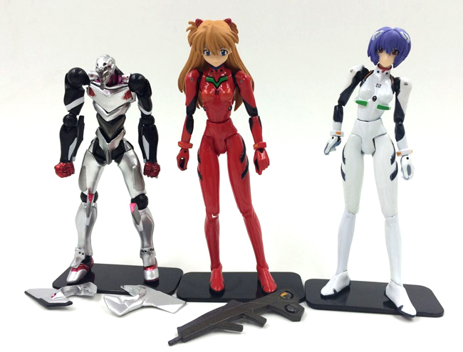 3pcs/lot 10-12cm Original Japanese anime figure EVA Neon Genesis Evangelion Ayanami Rei/Asuka Langley Soryu action figure(China (Mainland))
