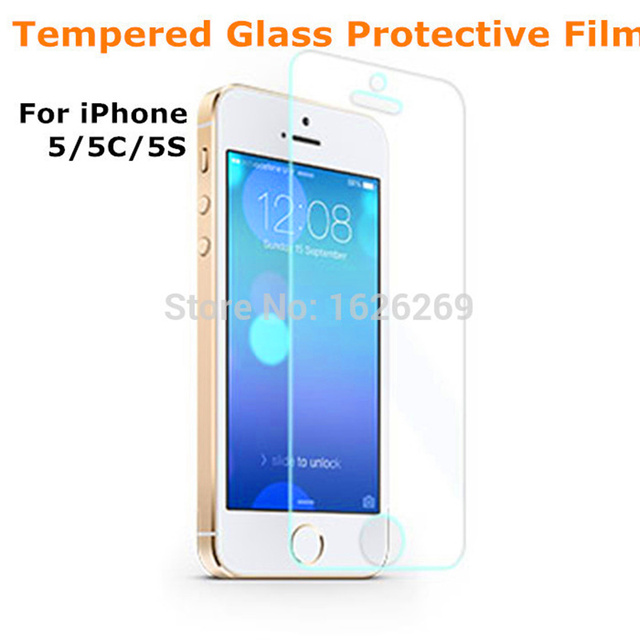 2015 new anti shatter for iphone 5 temper glass protector for Iphone 5 projector price