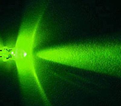 Lot of 200 X 5mm Green LED 15000 mcd Free Resistors(China (Mainland))