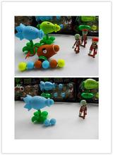 New Popular Game PVZ Plants vs Zombies Peashooter PVC Action Figure Model Toys 12 Style 10CM Plants Vs Zombies Toys lesgas(China (Mainland))