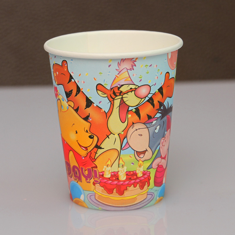 50pcs/lot Children's Day Birthday party supplies Bear and tigger theme party paper cups(China (Mainland))