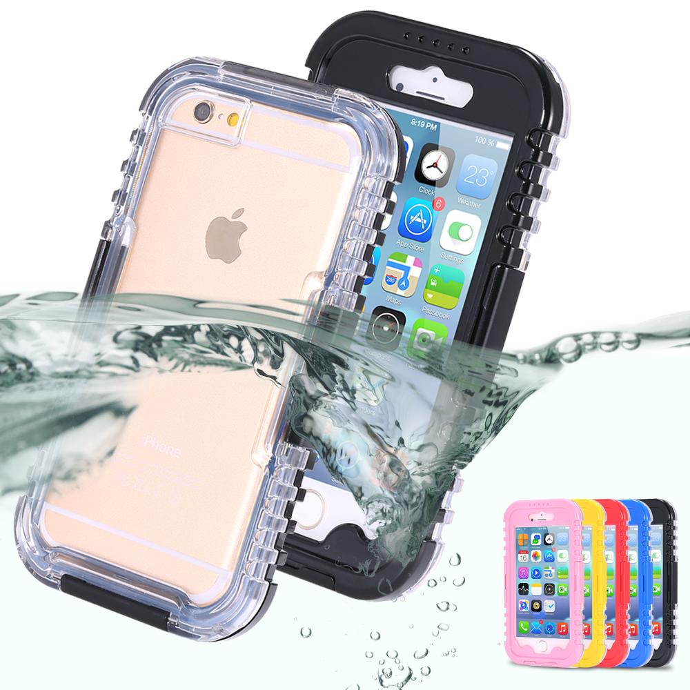IP-68 Waterproof Heavy Duty Hybrid Swim Diving Case For Apple iPhone 7 WaterDirtShock Proof Cell Phone Bags For iPhone 7 Plus(China (Mainland))