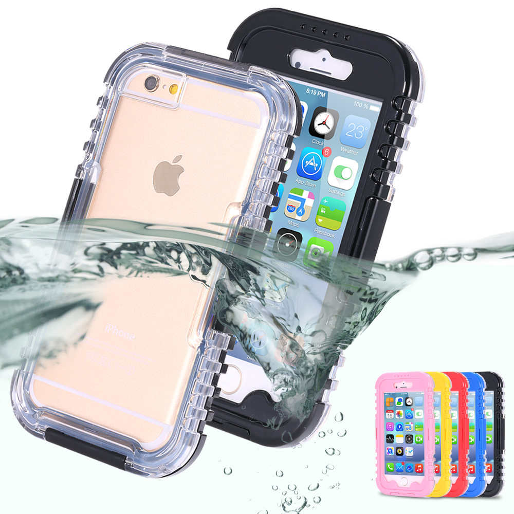 IP-68 Waterproof Heavy Duty Hybrid Swim Diving Case For Apple iPhone 7 WaterDirtShock Proof Cell Phone Bags For iPhone 7 Plus(China (Mainland))